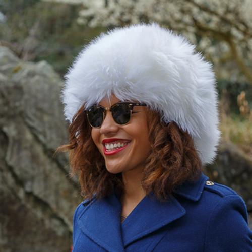 Sheepskin Alpine Fur Hat White