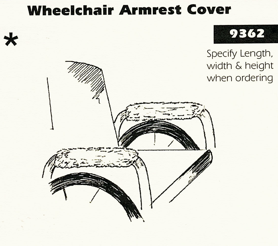 Sheepskin Arm Rest Covers for Wheel Chair