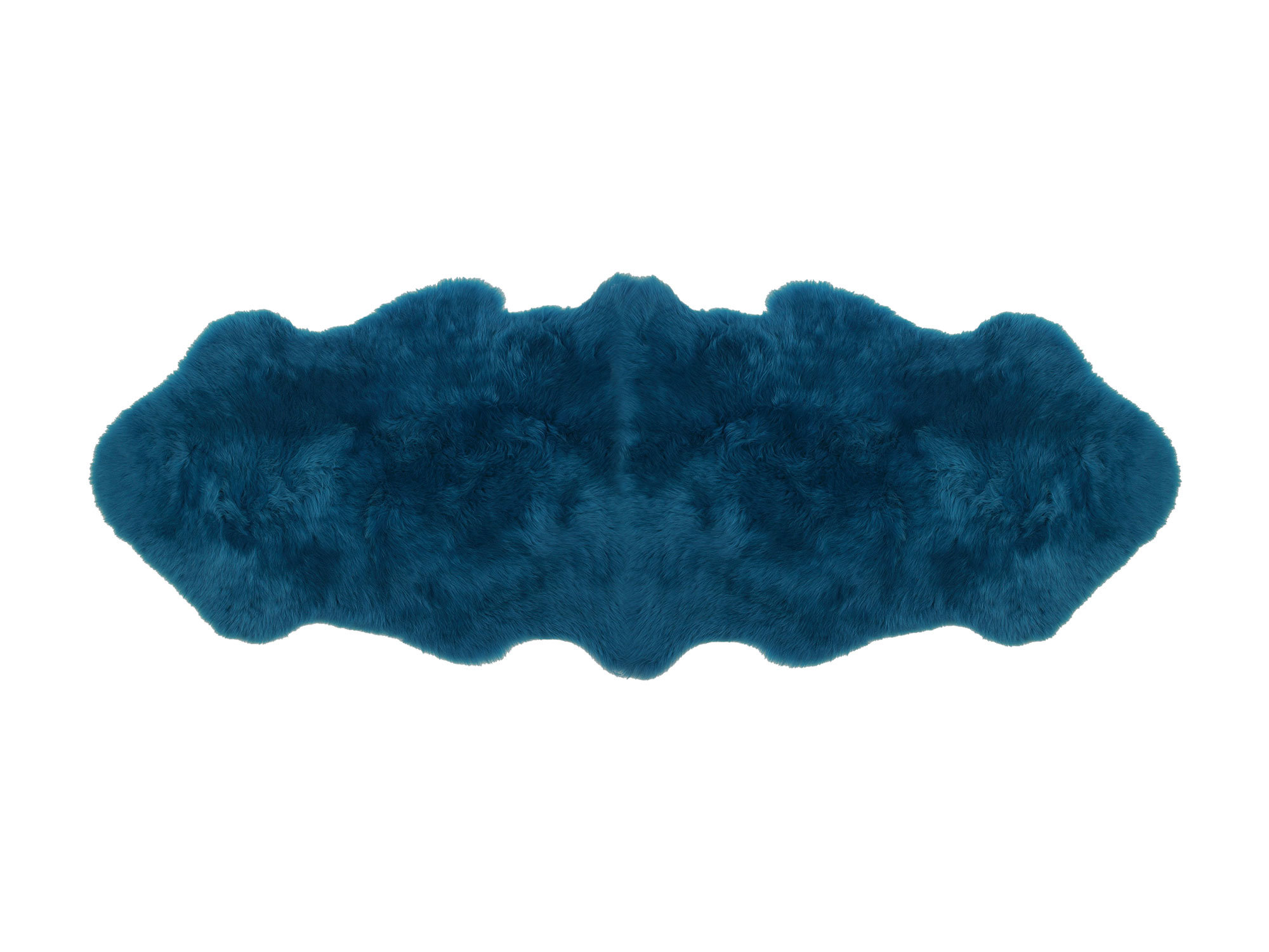 Double Pelt Sheepskin Rug Teal