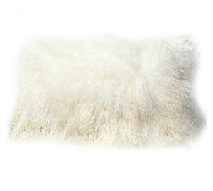 Tibetan Lambskin Pillow Ivory