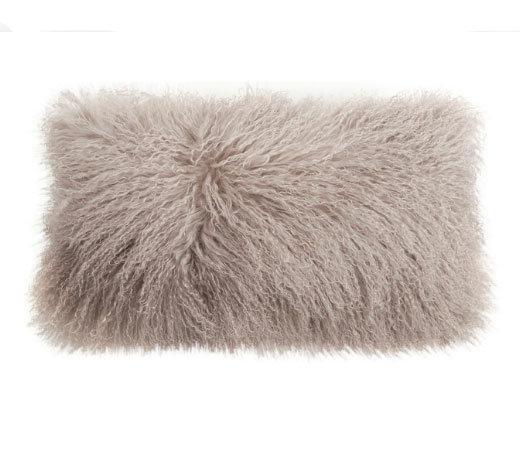 Tibetan Lambskin Pillow Birch
