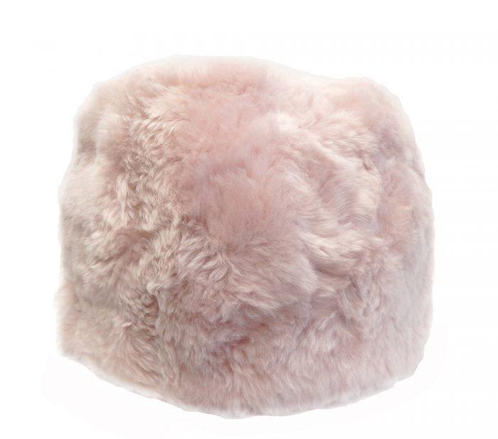 Pale Pink Pouf Shorn Icelandic Sheepskin