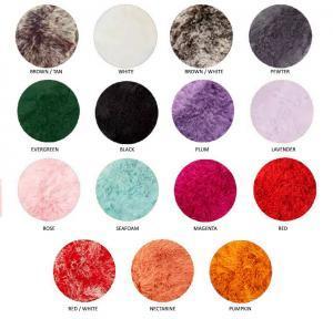 Tibetan Lambskin Throw Rug Colors
