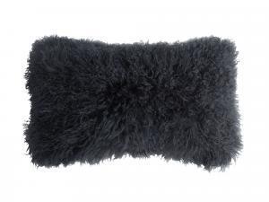 Tibetan Lambskin Kidney Pillow Charcoal