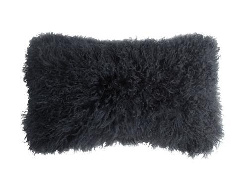Tibetan Lambskin Kidney Pillow Charcoal
